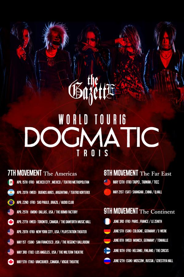 the GazettE WORLD TOUR 16