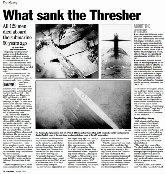 What sank the Thresher