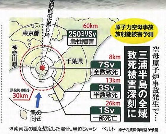 原子力空母事故放射能被害予測