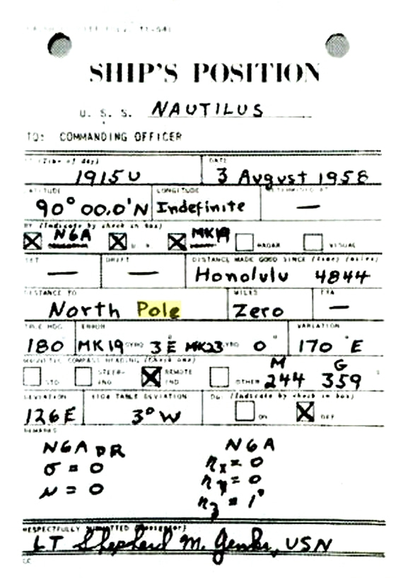 Navigator's report: Nautilus