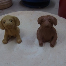 陶芸 犬の茶玩