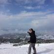 大山でスキー