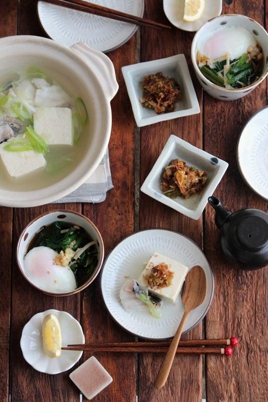 湯豆腐献立。