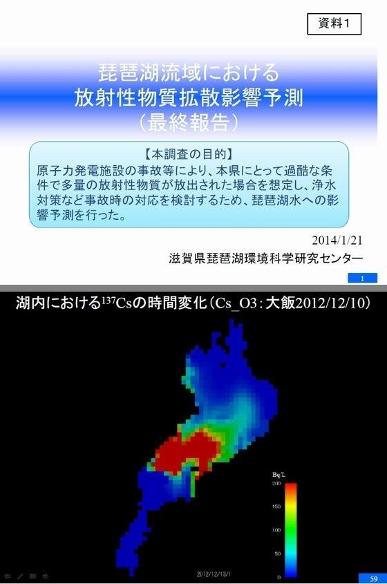 琵琶湖流域における 放射性物質拡散影響予測