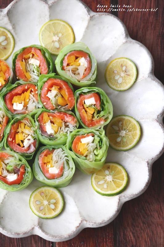 キャベツロールサラダ。