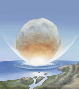 巨大隕石の衝突