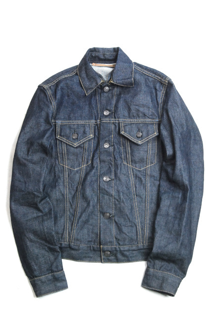 4f8c992884 定番人気アイテムのセカンドタイプデニムジャケット。 前身頃にはアクションプリーツ、両胸とサイドにはポケットが備えてあります。  定番のアイテムとして長くお使い ...