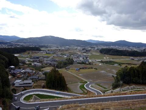 長篠設楽原パーキングエリア下りからの眺め