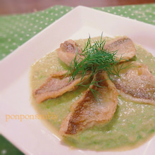 小鯛のムニエル~豆乳アボカドソース添え