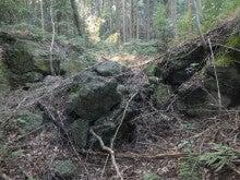 爆破された砲台跡