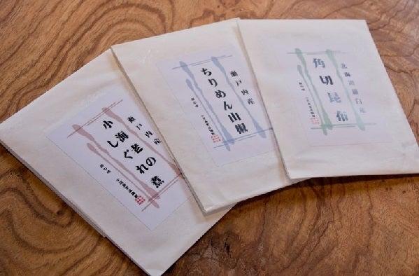 【小豆島の佃煮三種盛り合わせ】