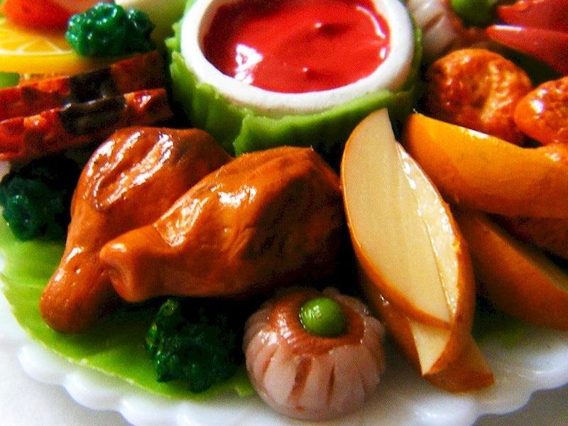 ミニチュアフード*チキン シュウマイ ポテト