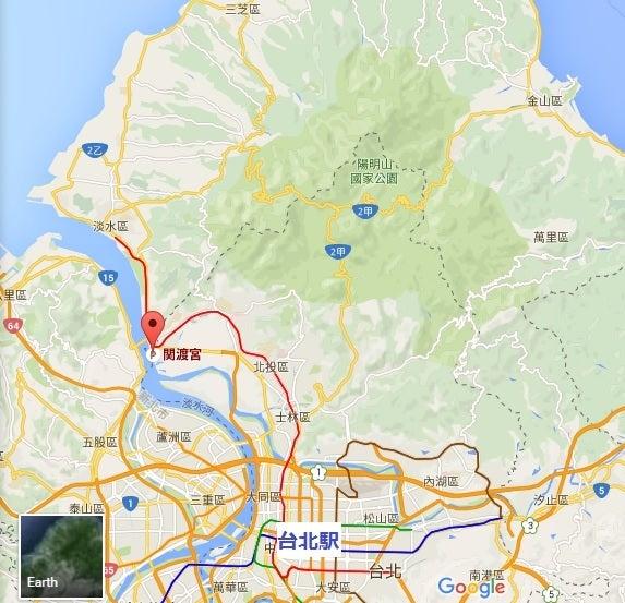 関渡宮地図