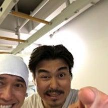 小澤君とジムでバッタ…