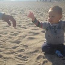 動画☆初めての砂遊び