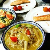 昨日の鍋のスープで