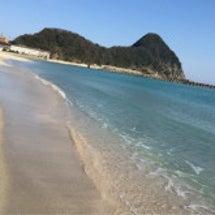 良い天気が続く竹野浜…