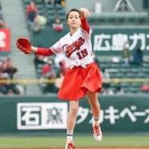 敦子今日広島始球式