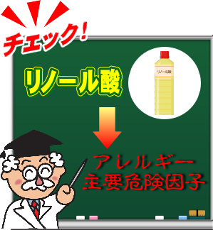 リノール酸と花粉症