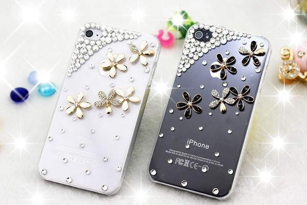 iPhone/ケース/花/キラキラ/ストーン/デコ