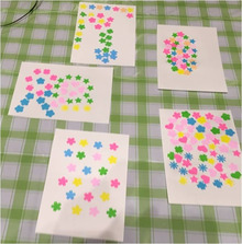 カラーの日 ピンク カード作り 作品1