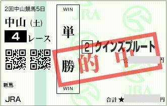 2016年3月12日中山4R単勝