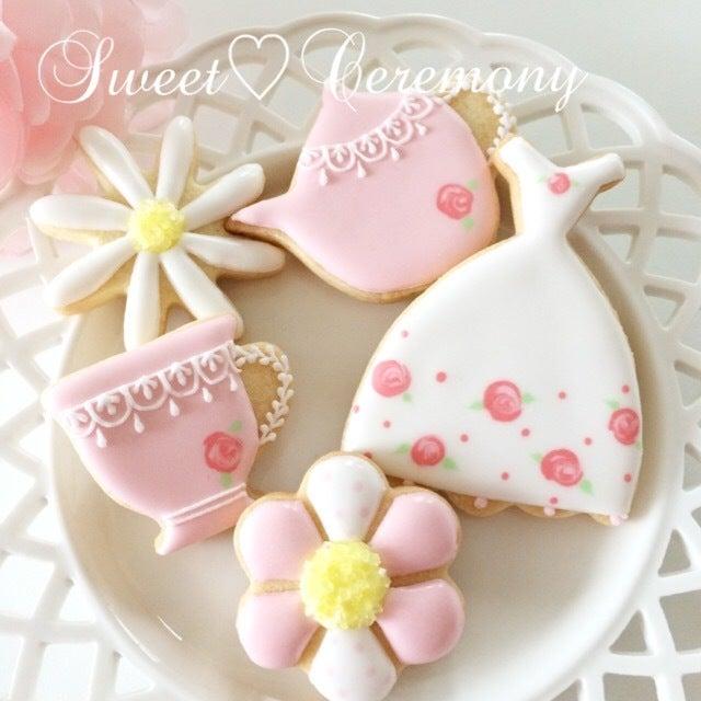 春のお茶会クッキー3
