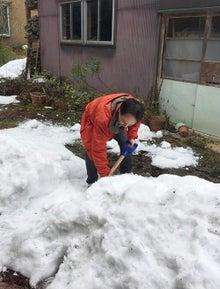 まずは除雪から