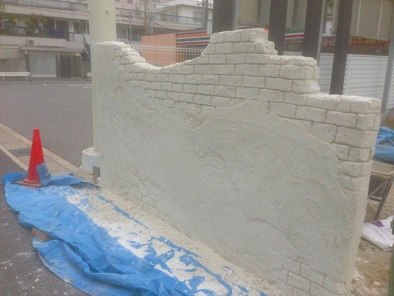 モルタル造形 名古屋 崩れた壁