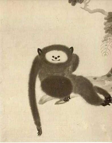 猿猴図 狩野山雪