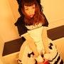 着用画像★黒猫マフラ…