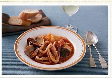 ブイヤーベース風魚介のスープ