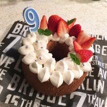 結婚記念日のケーキと…