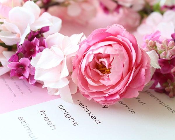 花冠、ヘッドリース、ピンク