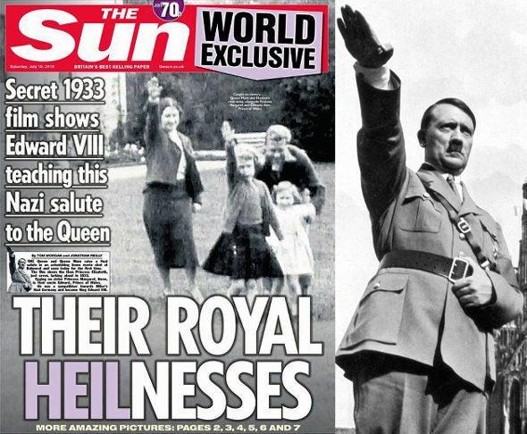 ナチス式敬礼