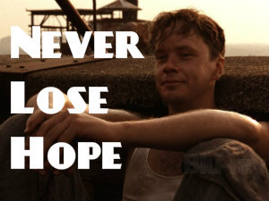 never lose hope 英語