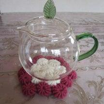 コイル編み手法の円座
