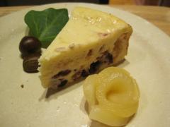 クランベリーのチーズケーキ