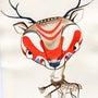 「鹿のポストカード展…