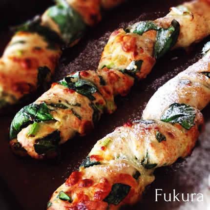 ほうれん草チーズのバトン☆パン教室フクラ