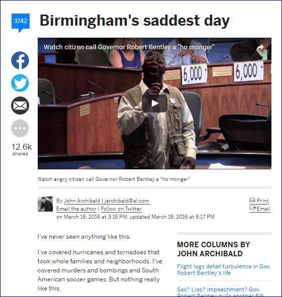 バーミンガムの最も悲しい日