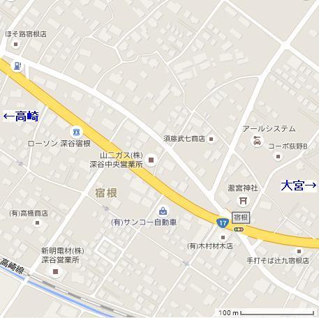 深谷市宿根MAP