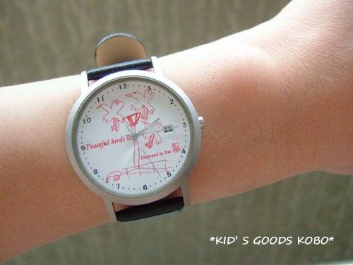 子供の絵でつくる腕時計