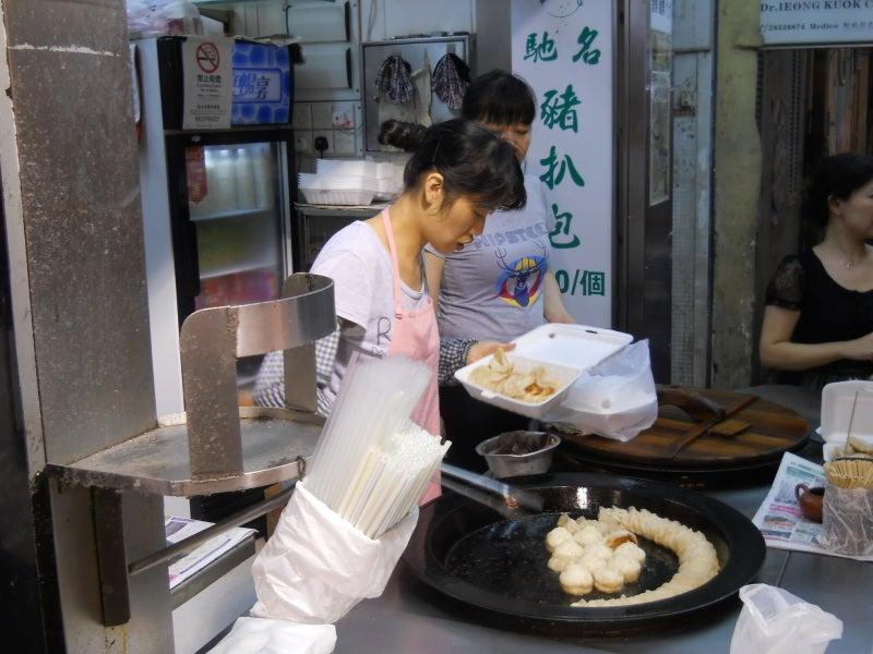 マカオの小上海の焼き小籠包