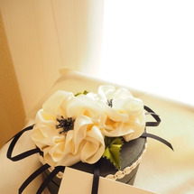 リボンでお花、完成!