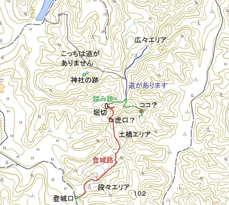 天羽城_地形図