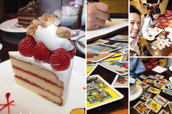 ケーキとセッション風景