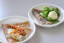 ソーセージクレープ&タマゴサラダクレープ