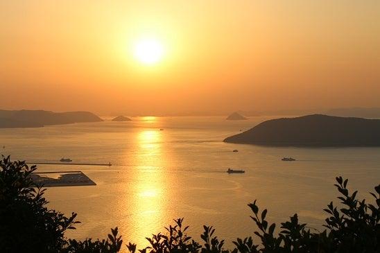 屋島の夕陽