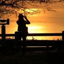 夕景を撮る(屋島山上…
